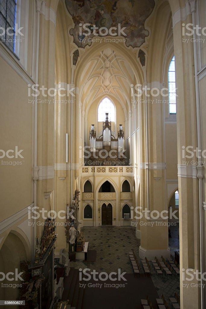 Sedlec Cathedral Interior stock photo