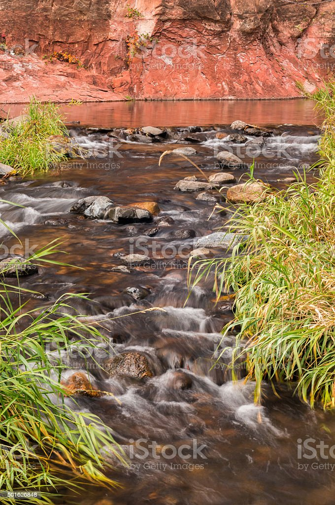 Sedona Arizona on a Rainy Autumn Day stock photo