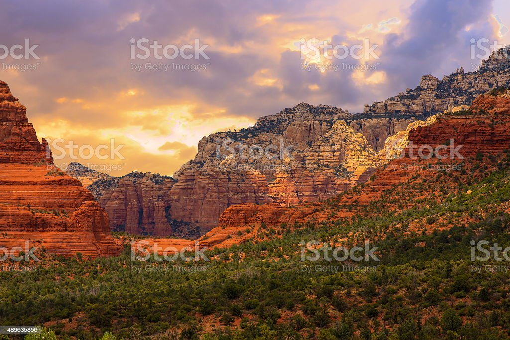Sedona Arizona Sunrise stock photo