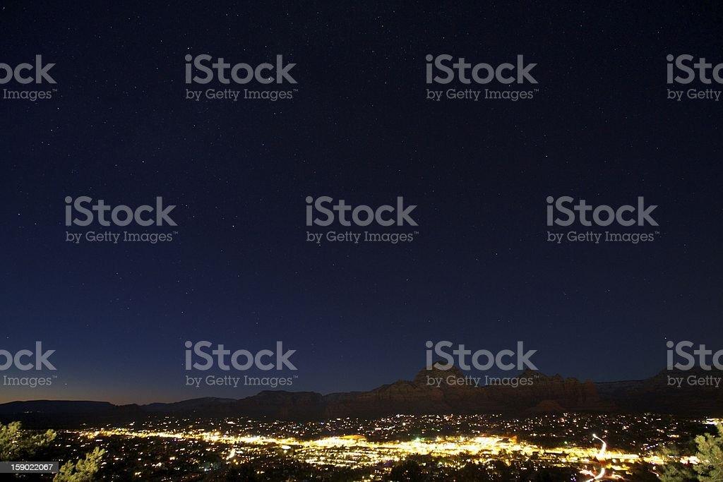 Sedona at Night stock photo