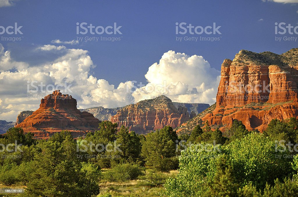 Sedona at sunset stock photo