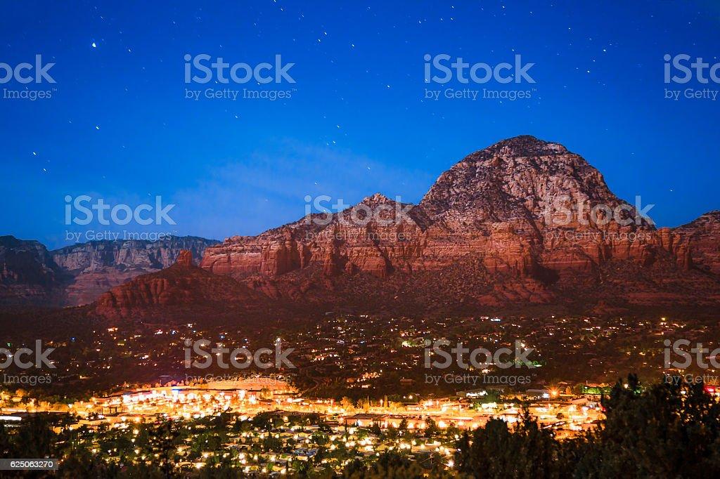 Sedona AZ night stock photo