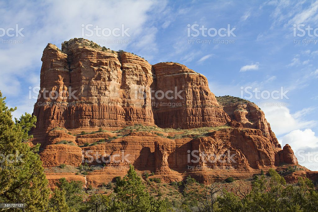 Sedona - Courthouse Butte Details stock photo
