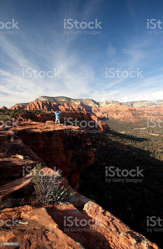 Sedona Hiker stock photo