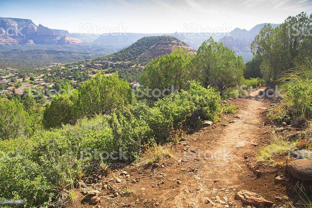 Sedona Hiking Trail stock photo