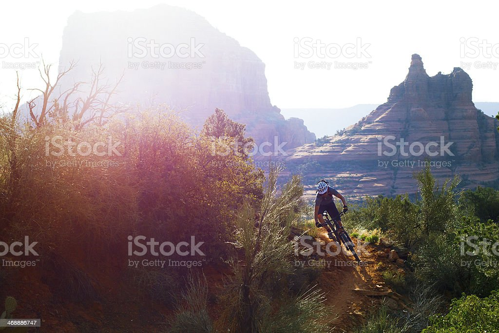 Sedona Mountain Biking stock photo