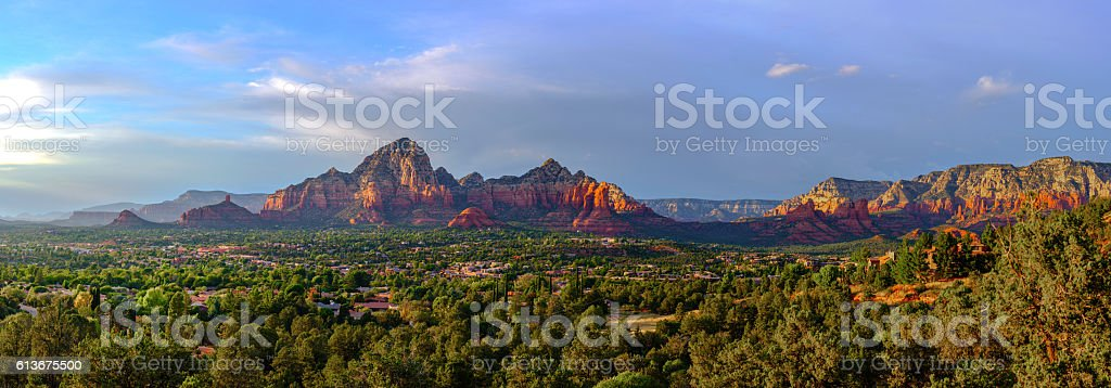 Sedona Panorama stock photo