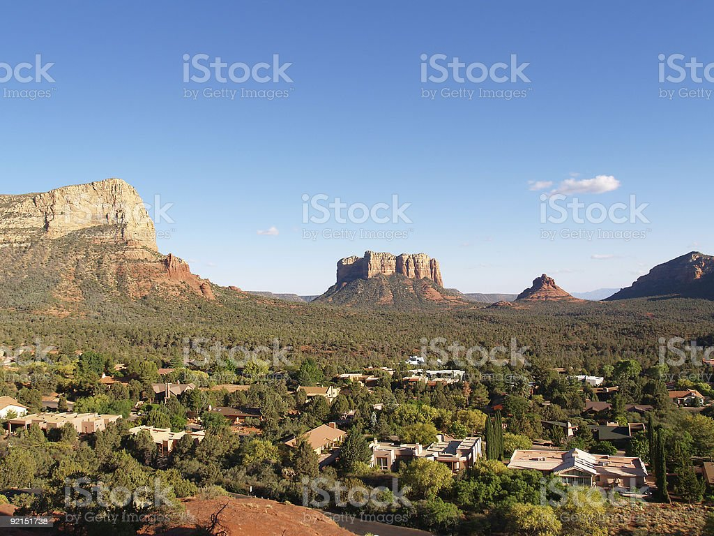 Sedona real estate royalty-free stock photo