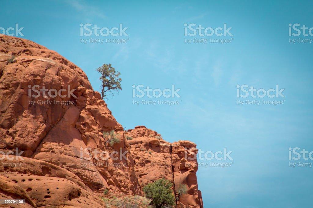 Sedona red sandstone rock formations, Arizona. stock photo