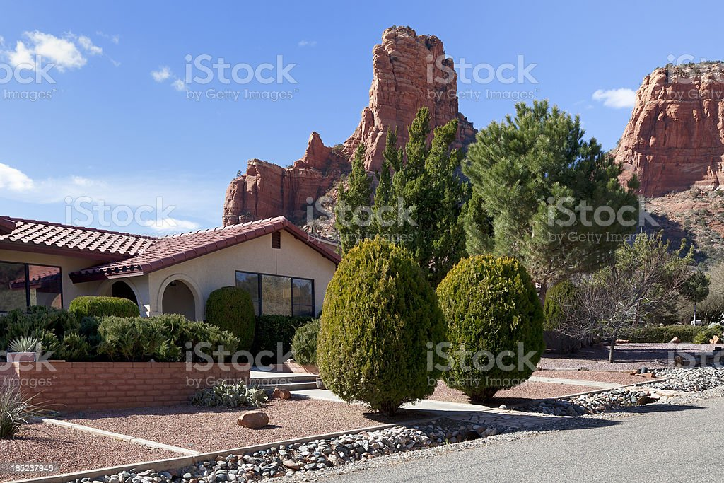 Sedona residence, Arizona stock photo