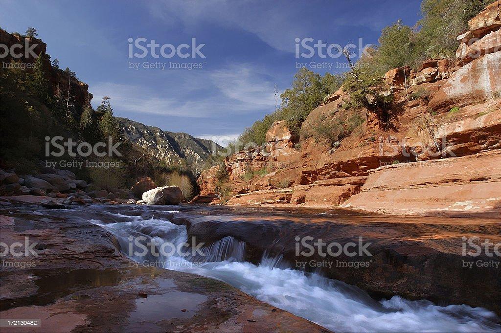 Sedona, slide rock state park royalty-free stock photo
