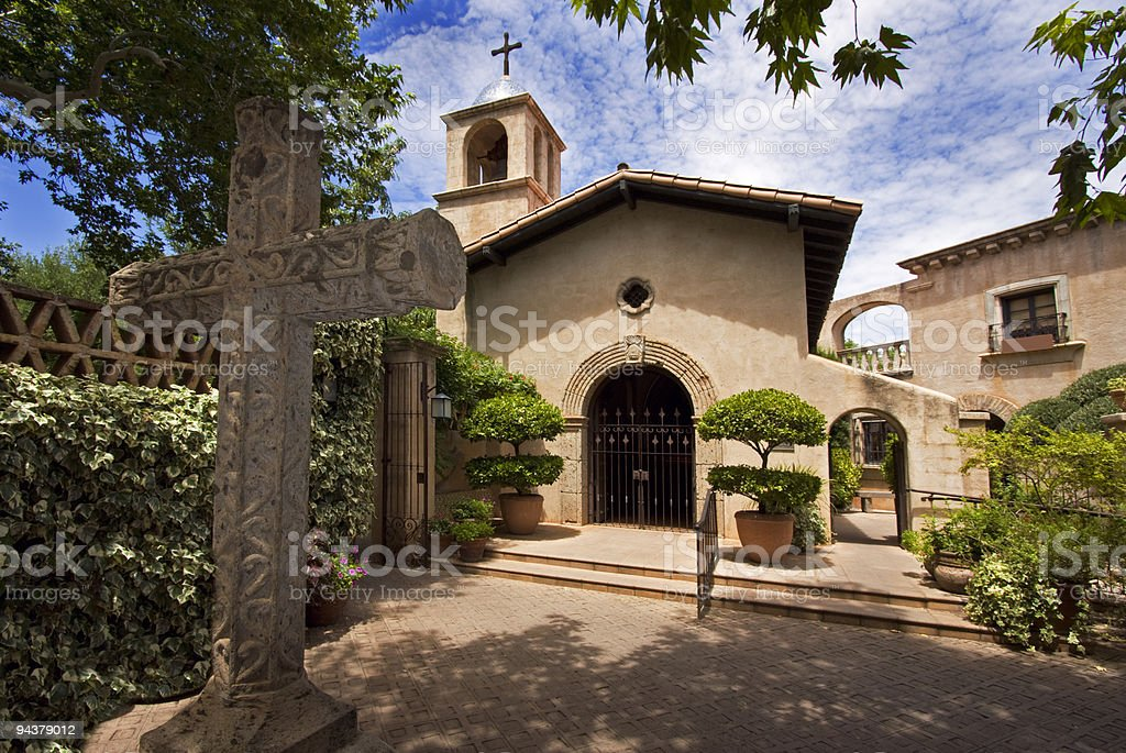 Sedona, spanish architecture, Arizona, USA stock photo