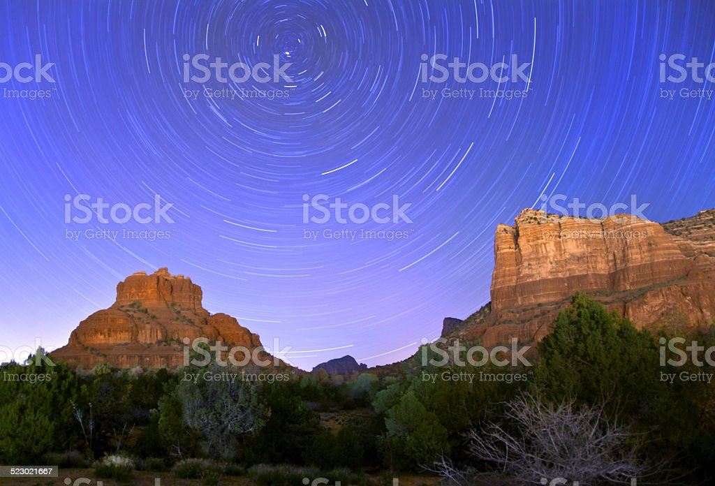Sedona Stars stock photo
