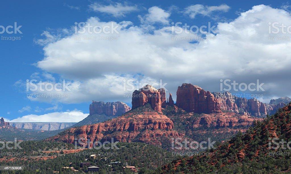 Sedona Wild West Red Rocks stock photo