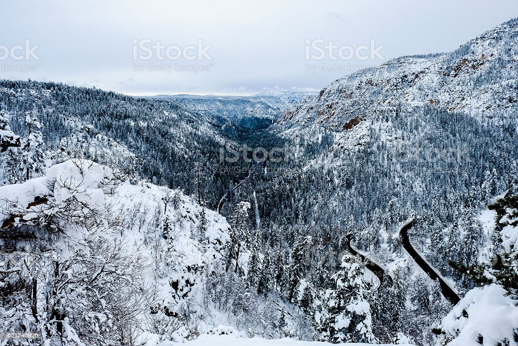 Sedona Winter stock photo