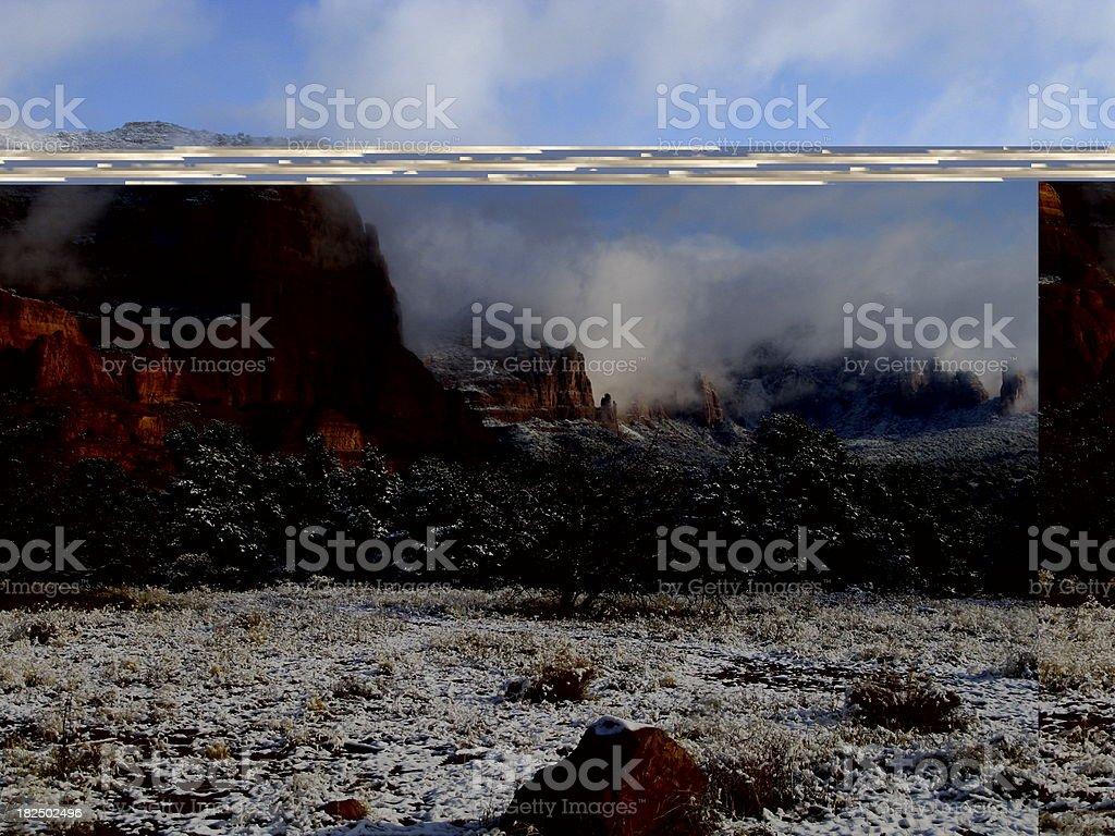 Sedona Winter Snow Red Rocks royalty-free stock photo