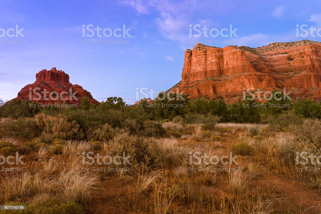 Sedona,Bell Rock, Courthouse Butte stock photo