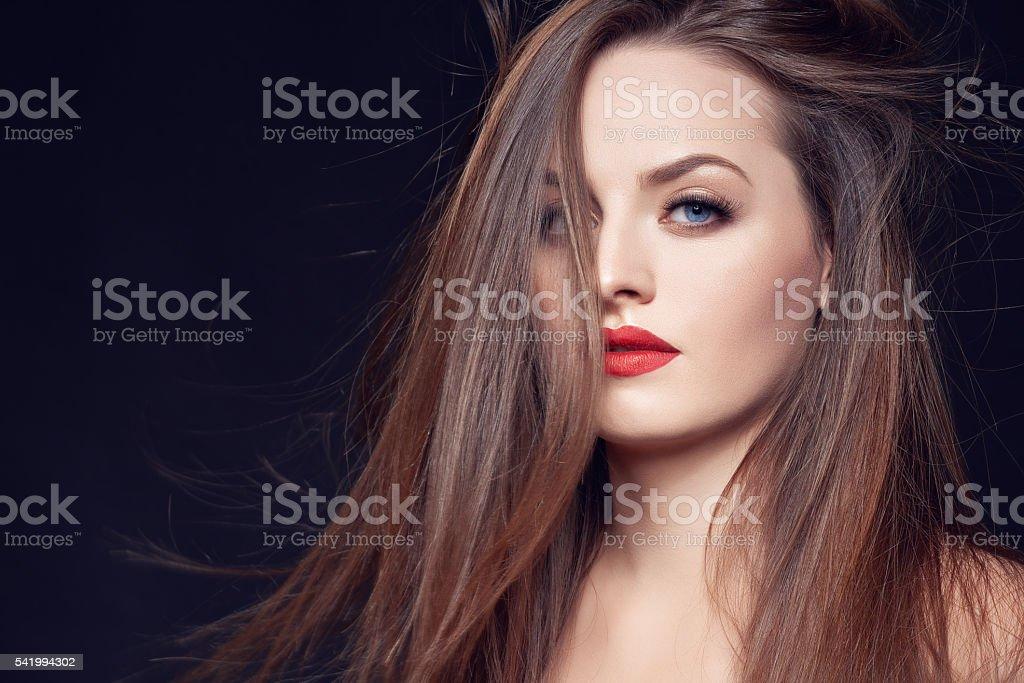 seduction and beauty stock photo