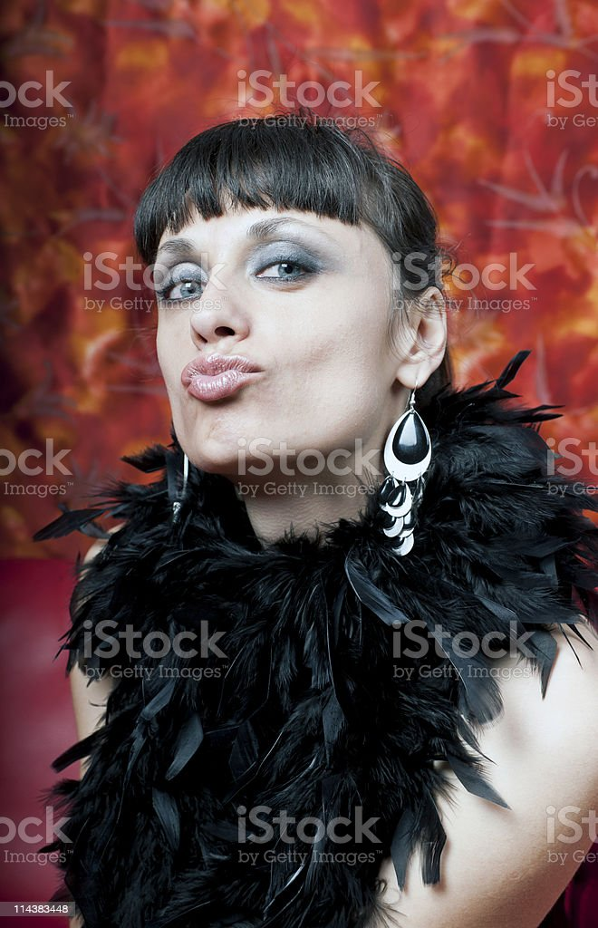 Seduction in Black and Red royalty-free stock photo