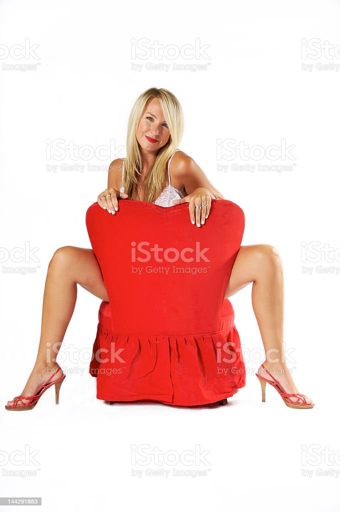 Seduction in Red royalty-free stock photo