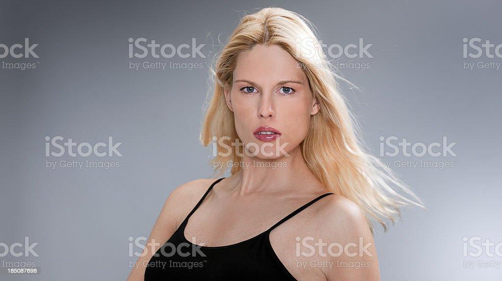 seductive blond woman royalty-free stock photo