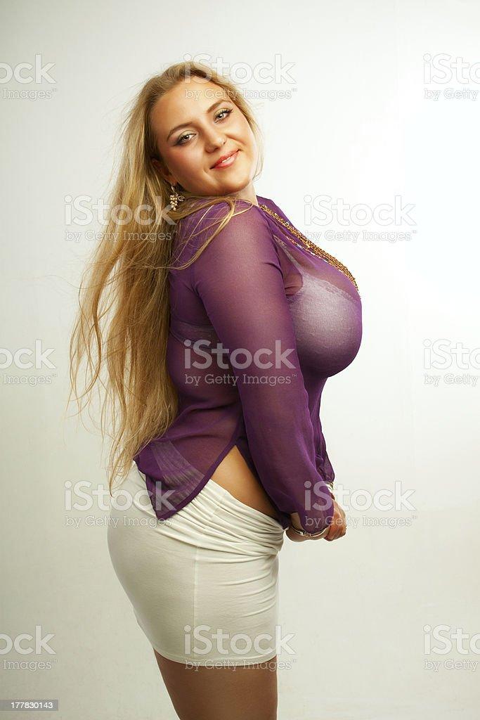 Seductive girl stock photo