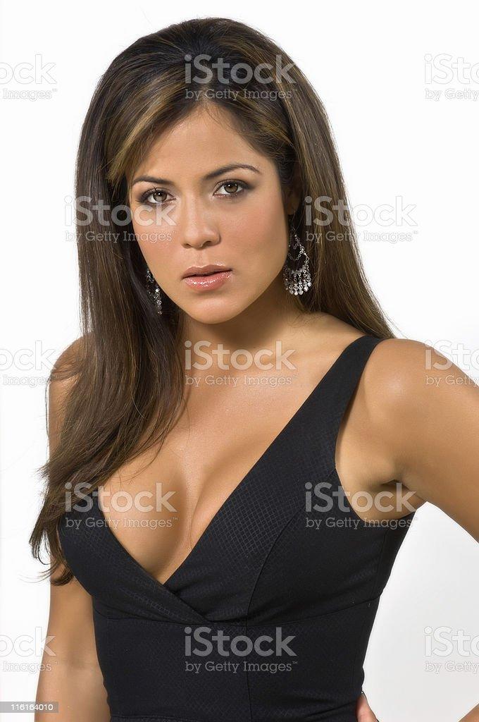 Seductive hispanic female model royalty-free stock photo