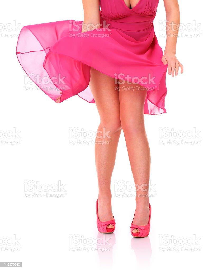 Seductive legs stock photo