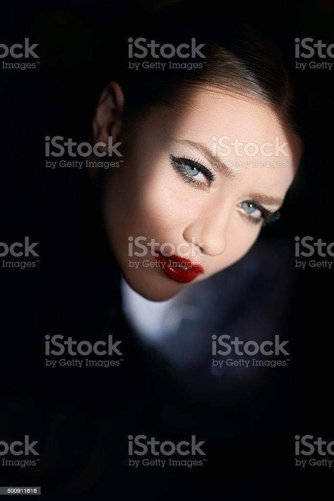 seductive look stock photo
