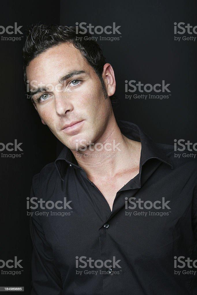 Seductive man stock photo