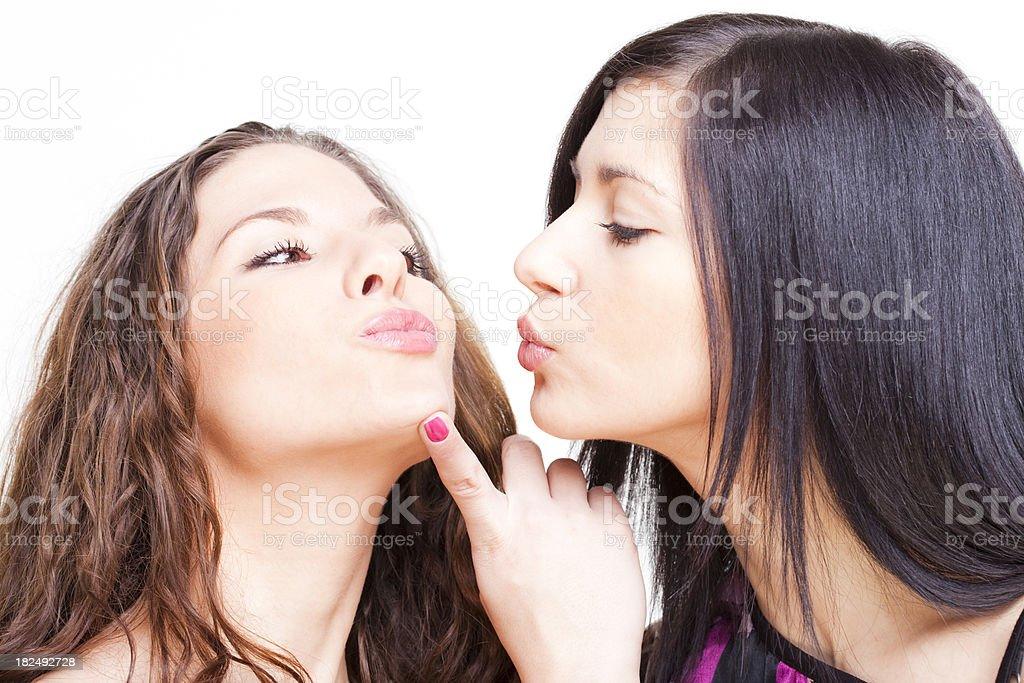 Seductive sexy sisters stock photo