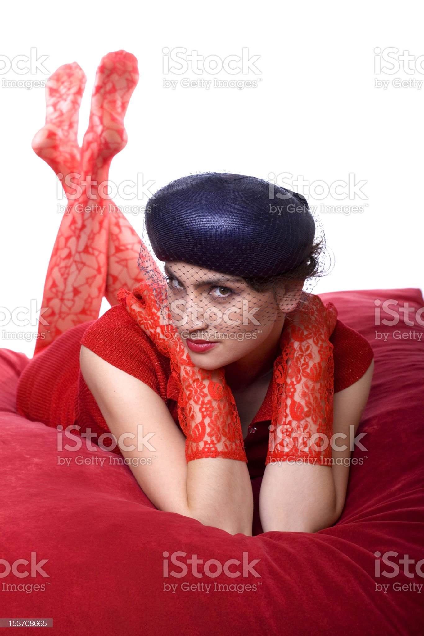 Seductive Stare royalty-free stock photo