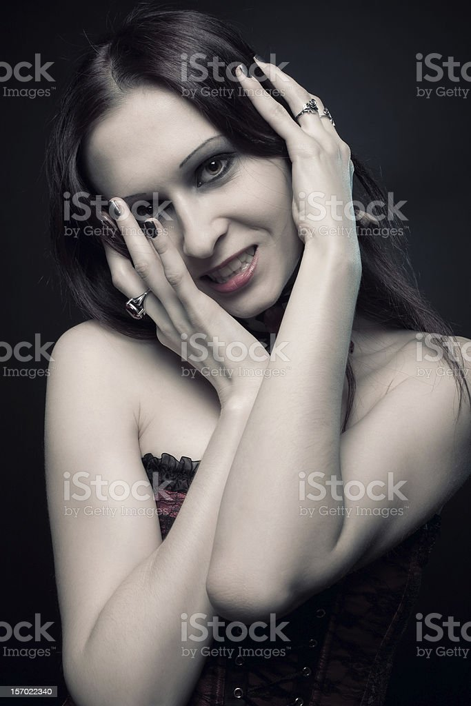 Seductive vampire royalty-free stock photo