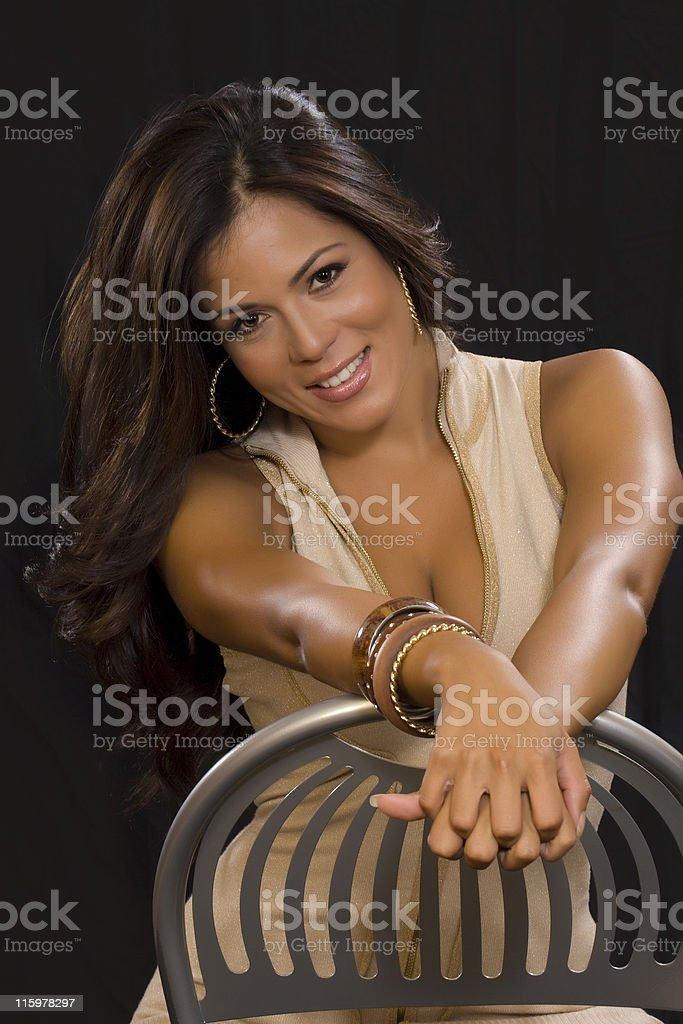 Seductive woman 4 royalty-free stock photo