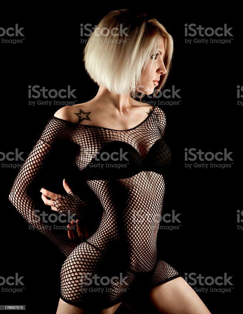 Seductive young woman stock photo
