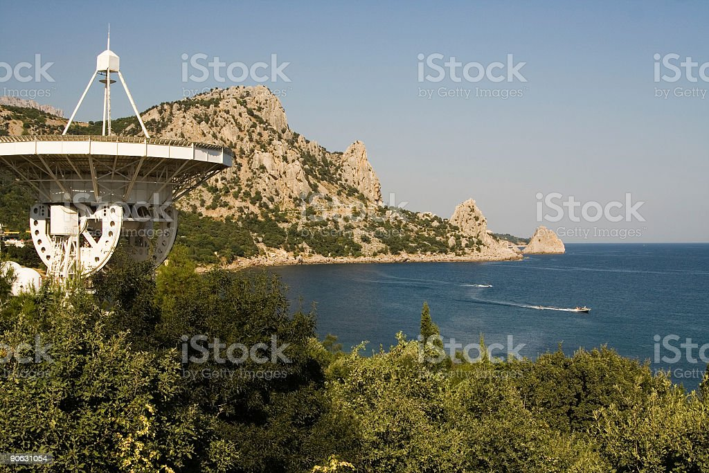 See beach antenna stock photo