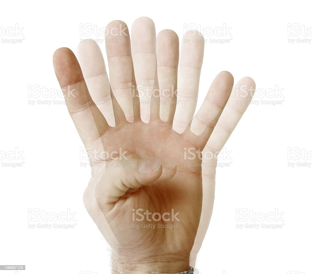 See fingers stock photo