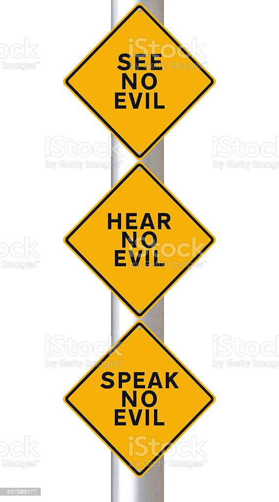 See, Hear, and  Speak No Evil stock photo