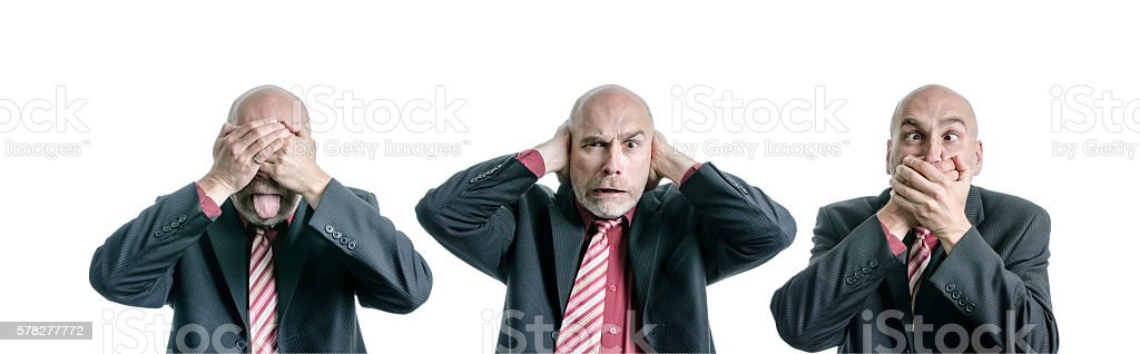 See no Evil Hear No Evil Speak No Evil stock photo