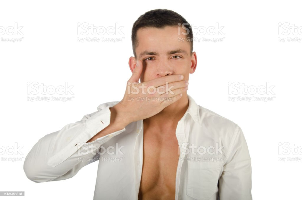 See No Evil, Hear No Evil, Speak No Evil poses. stock photo