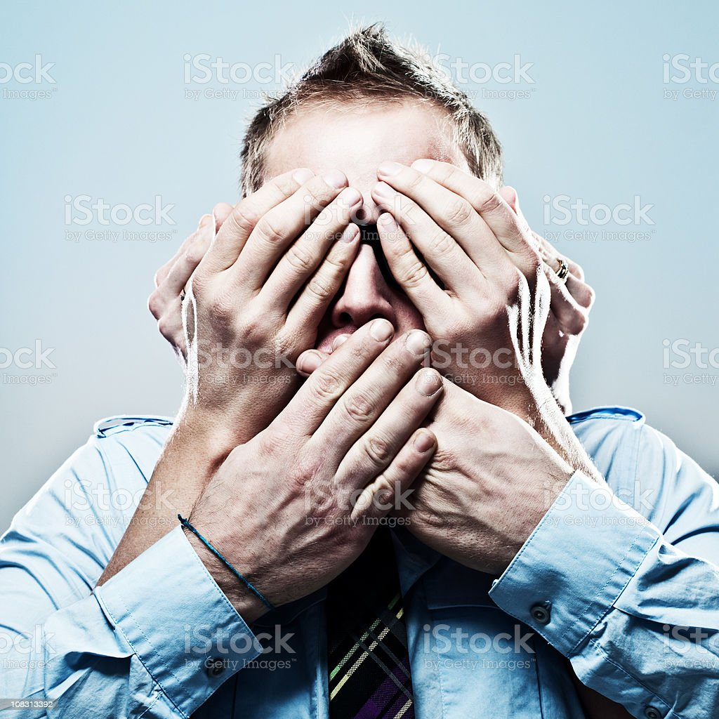 see no evil... stock photo