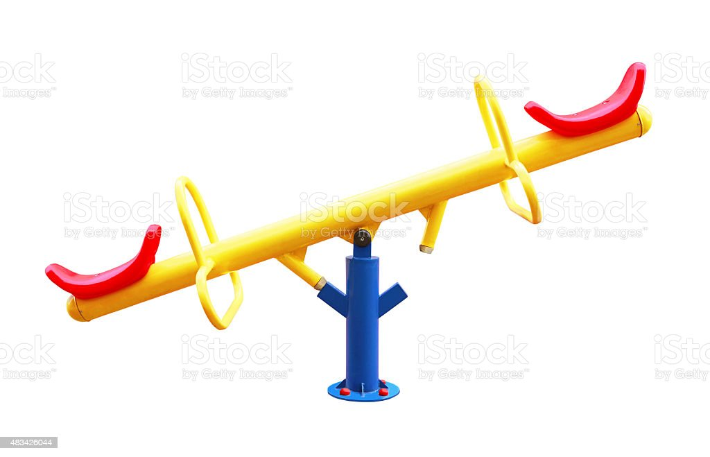 see saw stock photo