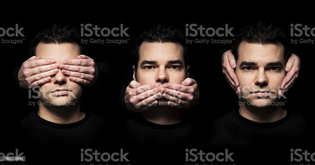 See, Speak, Hear No Evil stock photo
