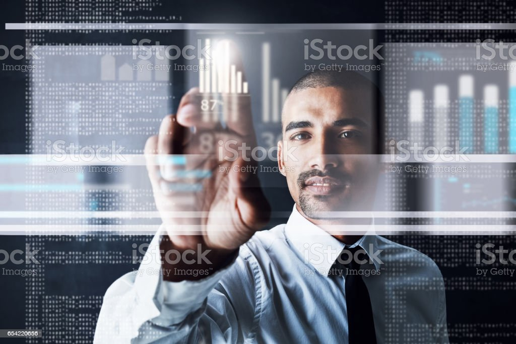 See the future, today stock photo