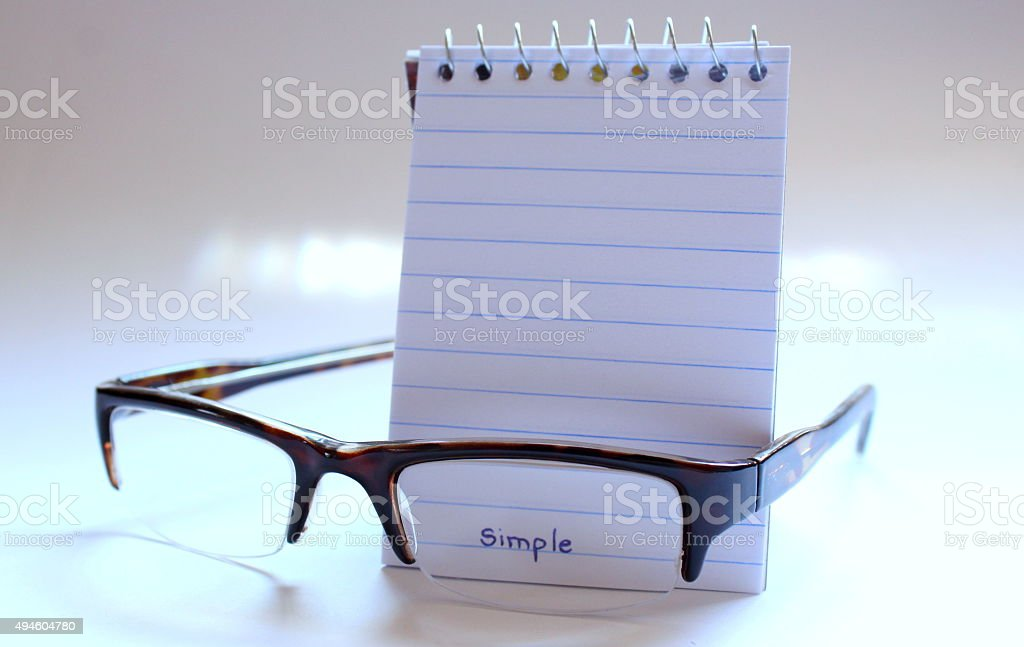 See the simple stock photo