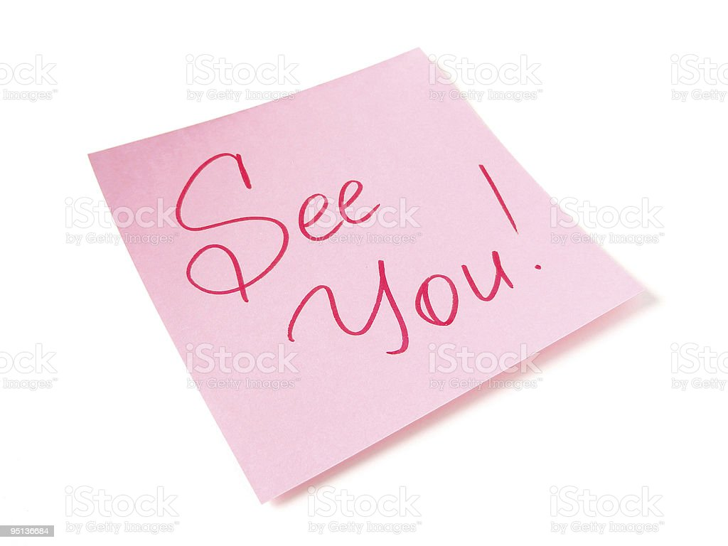 See you message royalty-free stock photo