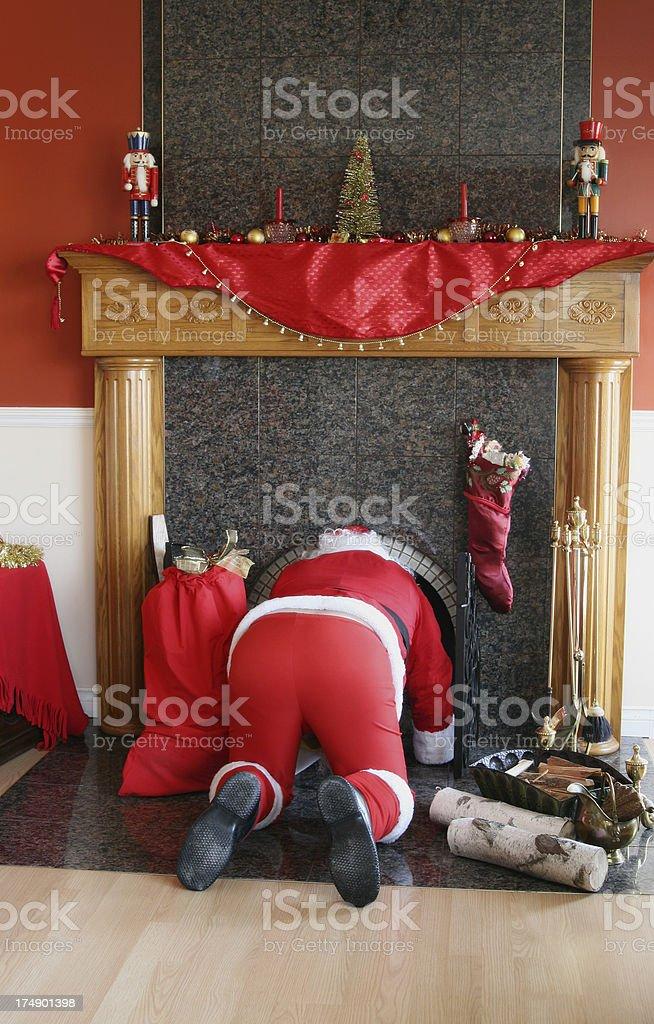 See you next year Santa! royalty-free stock photo