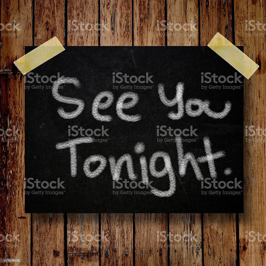 See you tonight note on message royalty-free stock photo