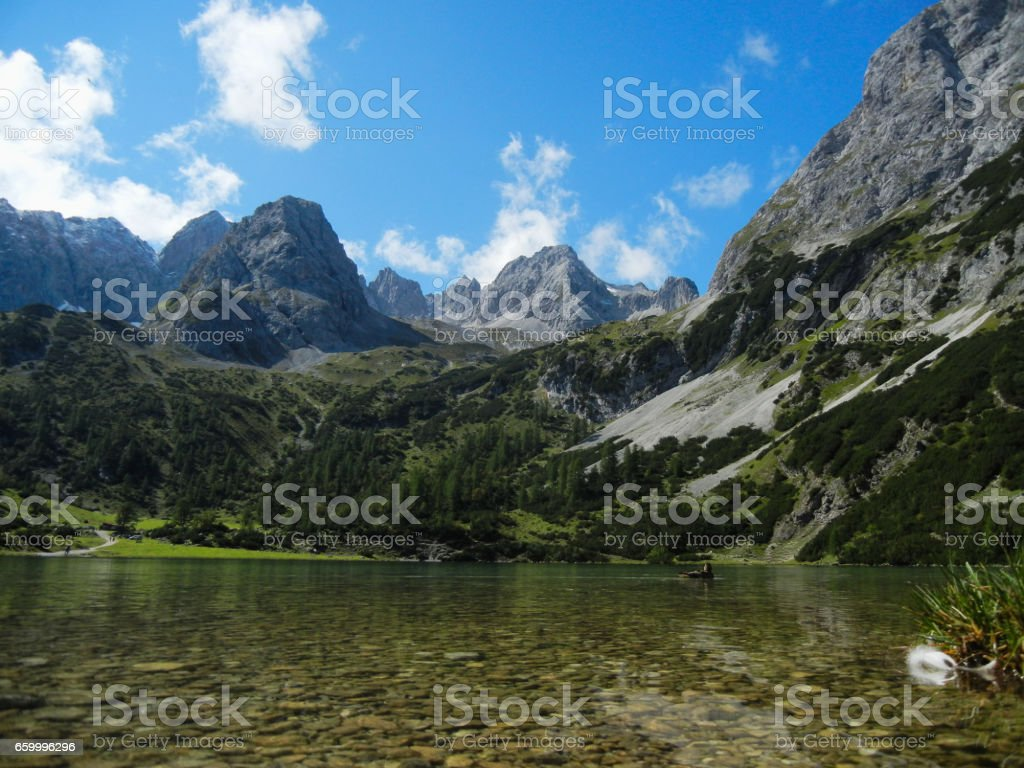 Seebensee in Austria stock photo