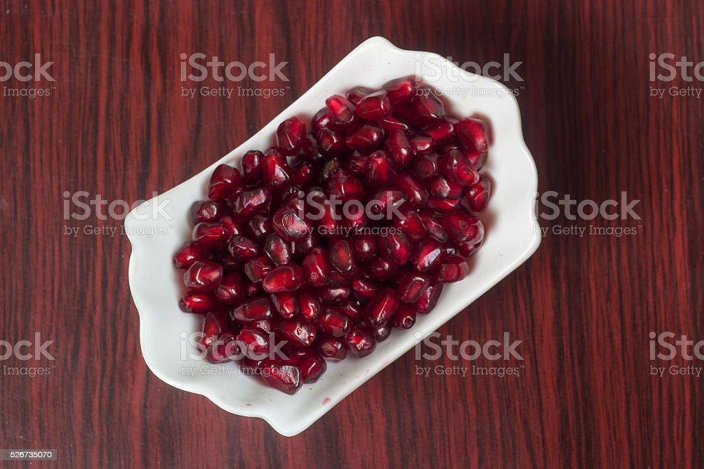 seed of garnet stock photo